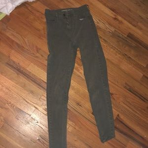 super soft green american eagle jeans